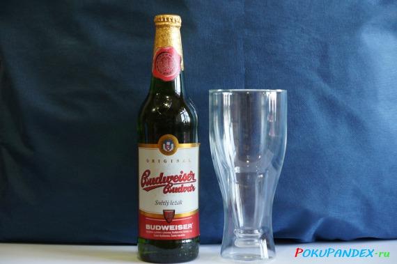 Сравнение размеров с бутылкой 0.5 л