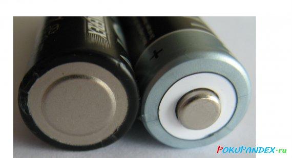 Контакты аккумулятора Powerex AA