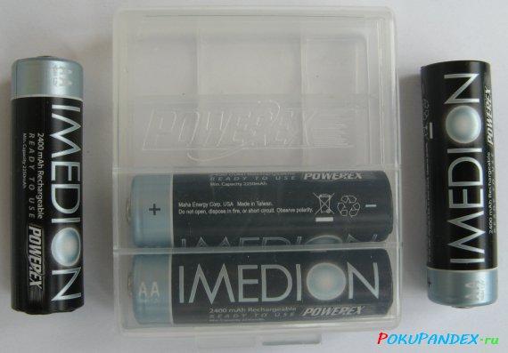 Аккумуляторы Powerex Imedion