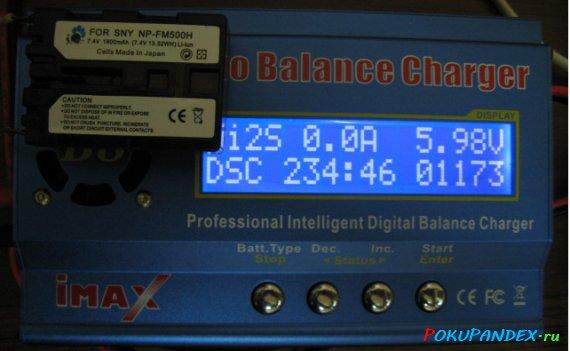 Измерение емкости аналога аккумулятора Sony