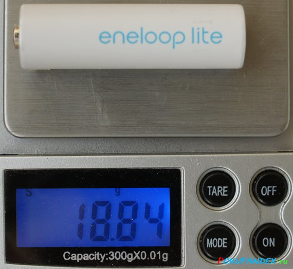 Вес Eneloop Lite AA HR-3UQ