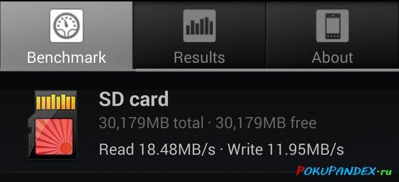 A1 SD Bench. Тест скорости карты памяти Transcend 300x на Samsung Galaxy S4 i9505.