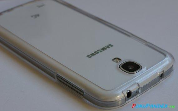 Пластиковый бампер для Samsung Galaxy S4 - вид сзади