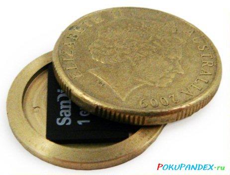 Секретка из монеты 1 австралийский доллар