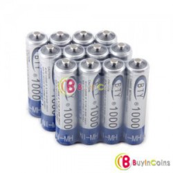 Аккумуляторы BTY Ni-MH AAA 1000mAh 1.2V Rechargeable Battery 12pcs