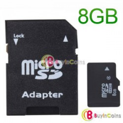 Noname карта памяти - 8 GB MicroSD TF Memory Card with SD Adapter