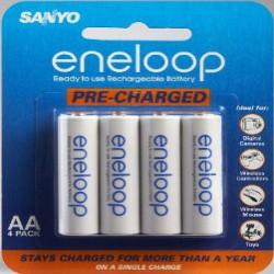 Аккумуляторы Sanyo Eneloop Ni-MH AA 2000 mAh x4