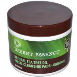 Desert Essence, Natural Tea Tree Oil Facial Cleansing Pads - очищающие диски с маслом чайного дерева