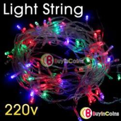 Новогодняя гирлянда - LED Light String 7 Color Christmas 220V 10 M