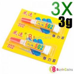 Супер клей 502 Cyanoacrylate Adhesive Super Glue 3g 3x