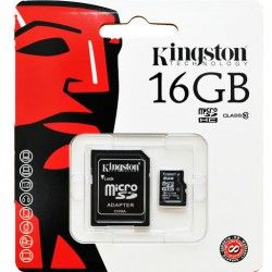 Карта памяти - Kingston 16GB Class 10 micro SDHC