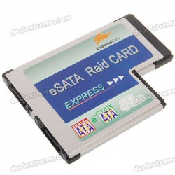 54MM Express Card to 2-Port eSATA Card for Notebook