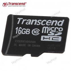 Transcend MicroSDHC 16GB. Class 10.