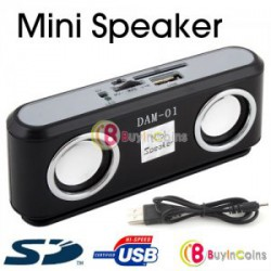 Маленький громкий MP3-плеер USB/SD (стерео колонки)