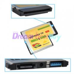 Карта USB 3.0 + eSATA 2.0 ExpressCard 54mm