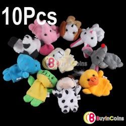 Плюшевые пальчиковые игрушки для детей (10 штук)