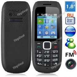 "Russian Keyboard 1.8"" 2 SIM Mobile Cell Phone with Camera"