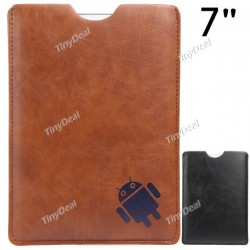 Universal Synthetic Leather Case Cover Shell Pouch Bag for 7""