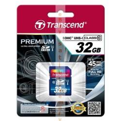 Карта памяти Transcend 32Gb SDHC UHS-I Premium 300x