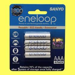 Аккумуляторы Sanyo eneloop 800 mAh AAA HR-4UTGB
