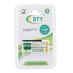 Зеленые аккумуляторы BTY 1000 mAh AAA Ni-MH - тест реальной емкости