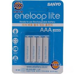 Аккумуляторы Sanyo eneloop lite AAA 600 mAh HR-4UQ