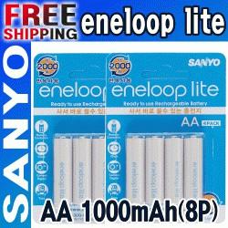 Eneloop Lite AA HR-3UQ - легкие аккумуляторы с низким саморазрядом