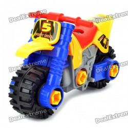 Конструктор мотоцикл - отличная пластиковая игрушка