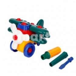 Пластиковый аэроплан - отличная развивающая игрушка-конструктор
