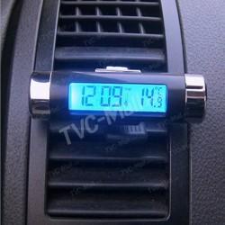 Часы с термометром в автомобиль