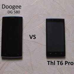 Doogee DG580 против Thl T6 pro - битва интересных бюджетников, обзор - сравнение.