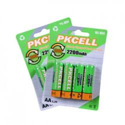 Аккумуляторы PKCELL 2200 mAh AA NiMH LSD с низким саморазрядом и честной емкостью