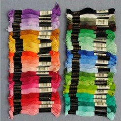Нитки мулине для вышивки из Китая (цветовая палитра DMC - 447 цветов)