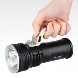 Дальнобойный фонарь от Romisen со всем нужным комплектом