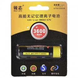 Аккумулятор Rui Zhi форм-фактора 18650 с заявленной ёмкостью 3600 ма-ч