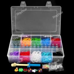 Разноцветные резиночки для плетения - большой набор