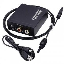 Цифровой аудиоконвертер с SPDIF Toslink Coaxial на RCA L/R и 3.5mm Jack
