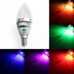 RGB лампочка с пультом - 3W E14