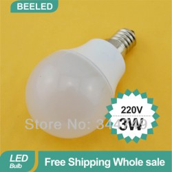 Лампочка E14 220V 2W LED
