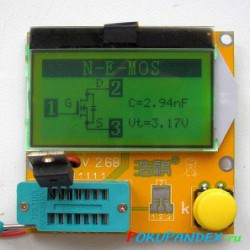 LCR-T3 LCD ESR Meter Transistor Tester. Прибор начинающего радиолюбителя