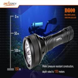 Обзор дайверского фонаря OrcaTorch D800