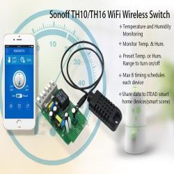 Управляемый по Wi-Fi выключатель (smart-переключатель) Sonoff TH16A с датчиком влажности AM2301 + просто smart-переключатель Sonoff RF с пультом (доп. опция)