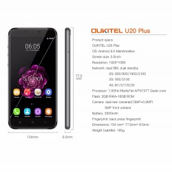 Oukitel U20 Plus. Двойная камера в бюджетном сегменте
