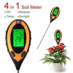 PН-метр, термометр, измеритель влажности и освещённости. Прибор садовода