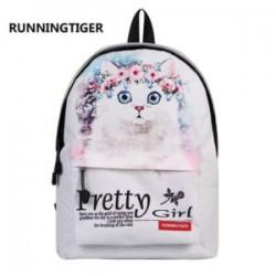 Девачковый рюкзак с рисунком кота