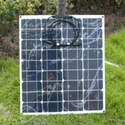 """Обзор гибкой солнечной панели на 50вт или как я собирал солнечную """"электростанцию"""""""