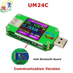 USB-тестер RuiDeng UM24C с Bluetooth-подключением к ПК и электронная нагрузка на 15Вт