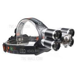 Налобный фонарь с пятью светодиодами на Li-Ion аккумуляторах 18650