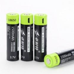 Литиевый аккумулятор ZNTER 18650 3,7V 1500mAh с USB-входом для зарядки