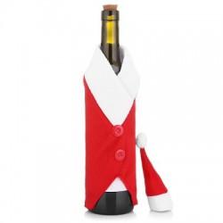 Новогодний декоративный костюм Санта Клауса на бутылку